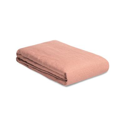 Housse de couette 240 x 220 cm / Lin lavé - Au Printemps Paris rose/orange/marron en tissu