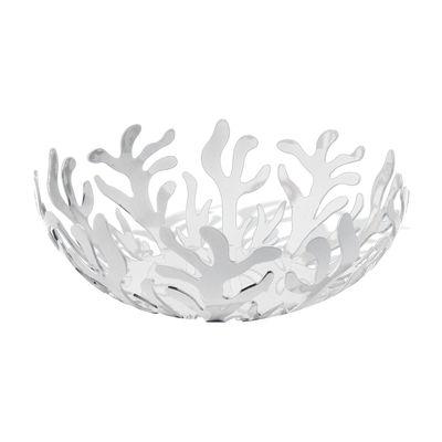 Tischkultur - Körbe, Fruchtkörbe und Tischgestecke - Mediterraneo Korb Ø 21 cm - Alessi - Weiß - Ø 21 cm - Stahl