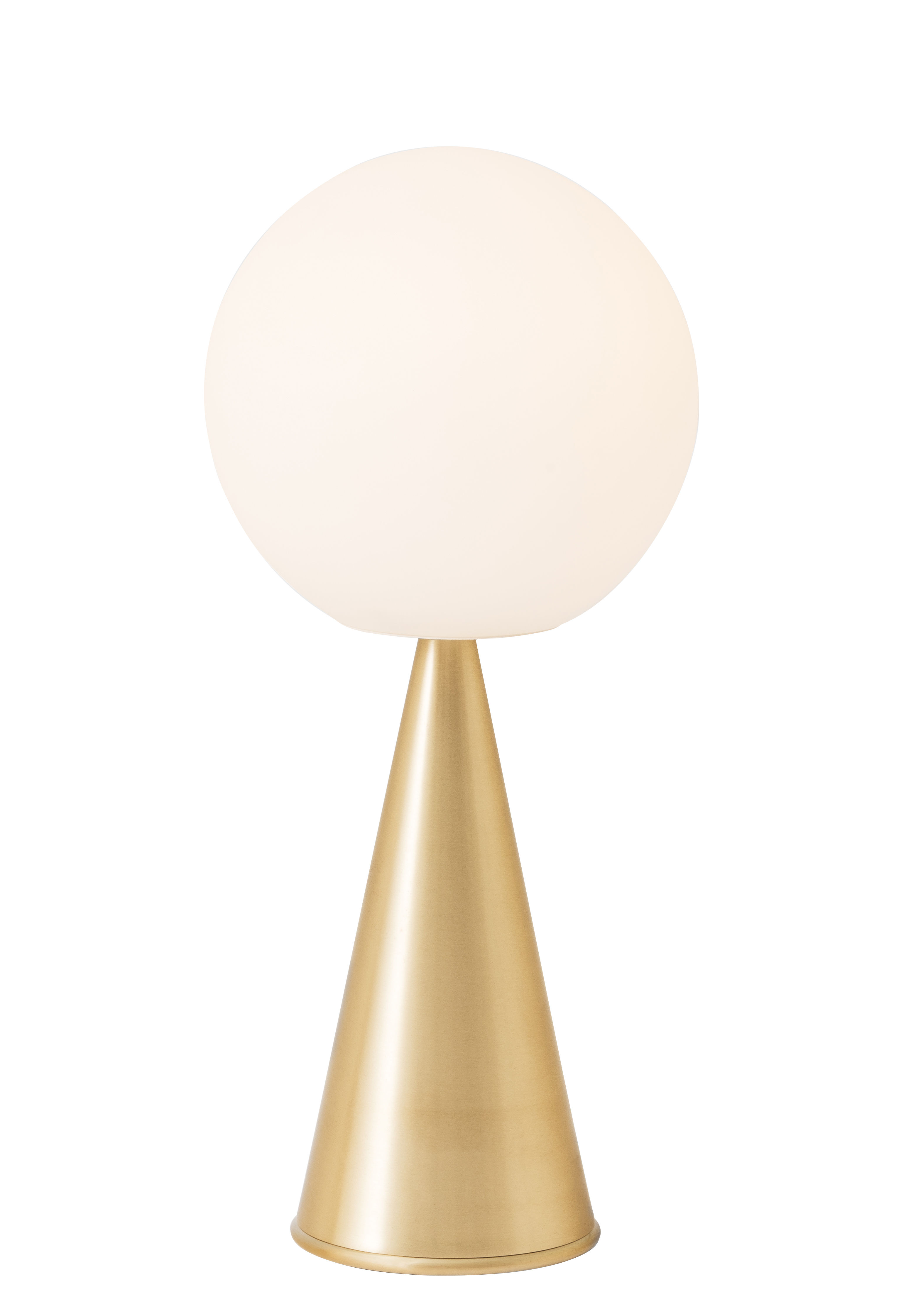 Illuminazione - Lampade da tavolo - Lampada da posa Bilia LED - / H 43 cm - By Gio Ponti (1932) di Fontana Arte - Ottone - , Metallo