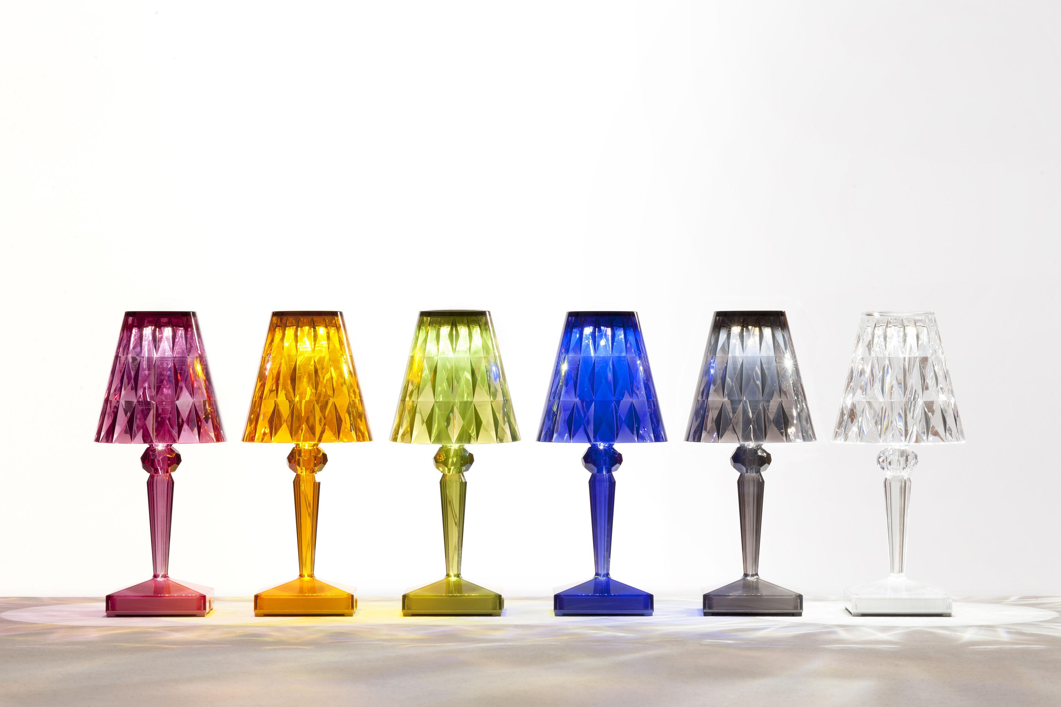 Scopri lampada senza fili battery led ricarica usb prugna di
