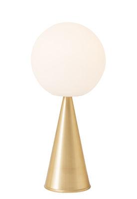 Lampe à poser Bilia LED / H 43 cm - By Gio Ponti (1932) - Fontana Arte blanc,laiton en métal