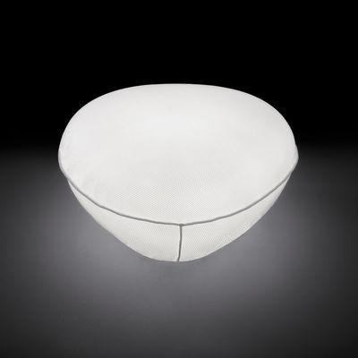 Lampe de sol Pill-low / pouf - Intérieur & extérieur - O luce blanc en matière plastique