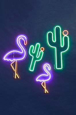 Lampe Neon Cactus Large Sunnylife Cactus Vert L 18 X H 45 X O