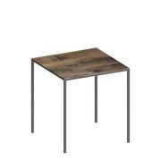 Table carrée Mini Tavolo Bois 99 x 99 cm Zeus bois,gris micacé en métal