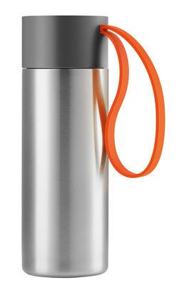 Mug isotherme To Go Cup /Avec couvercle - 0,35 L - Eva Solo orange,acier brossé en métal