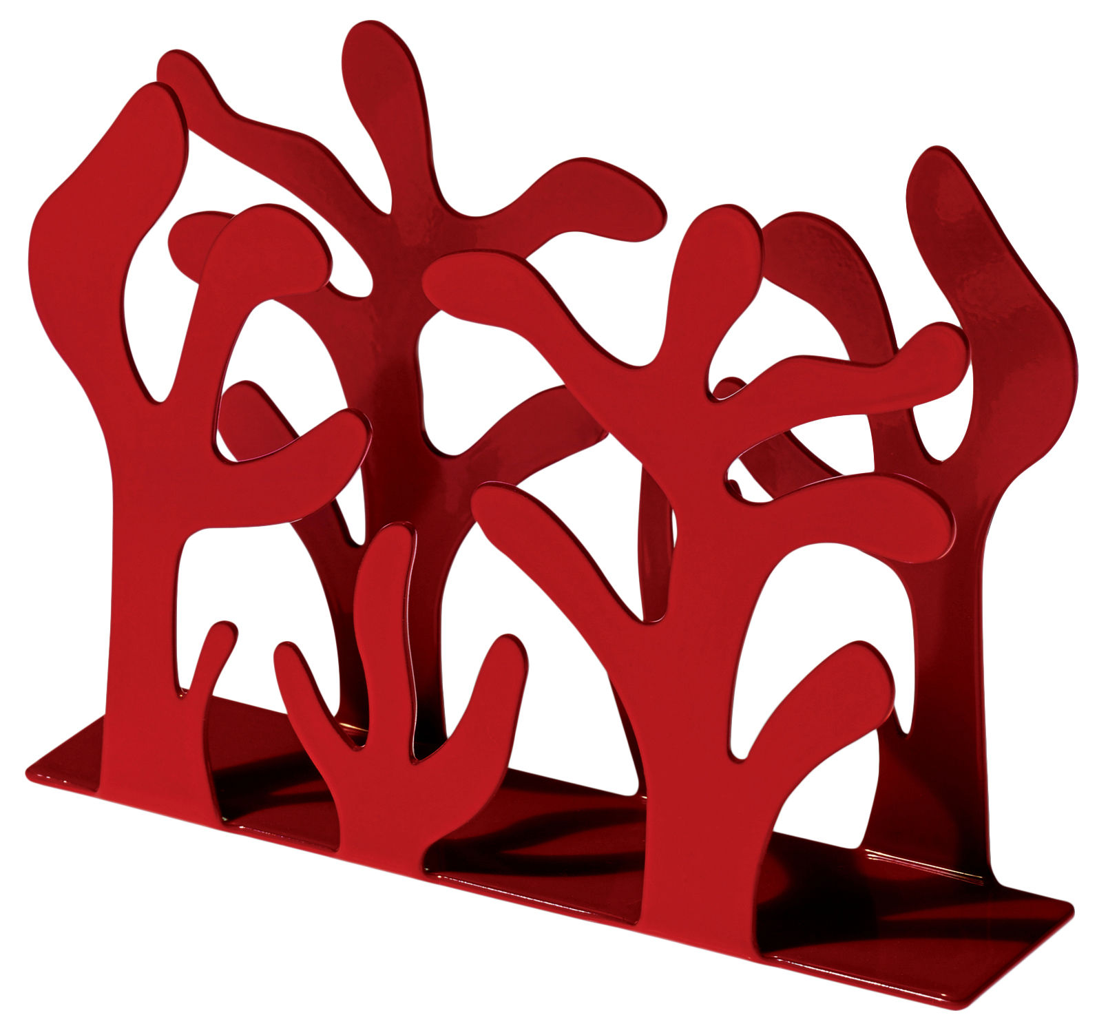 Kitchenware - Cool Kitchen Gadgets - Mediterraneo Napkin holder by Alessi - Red - Steel