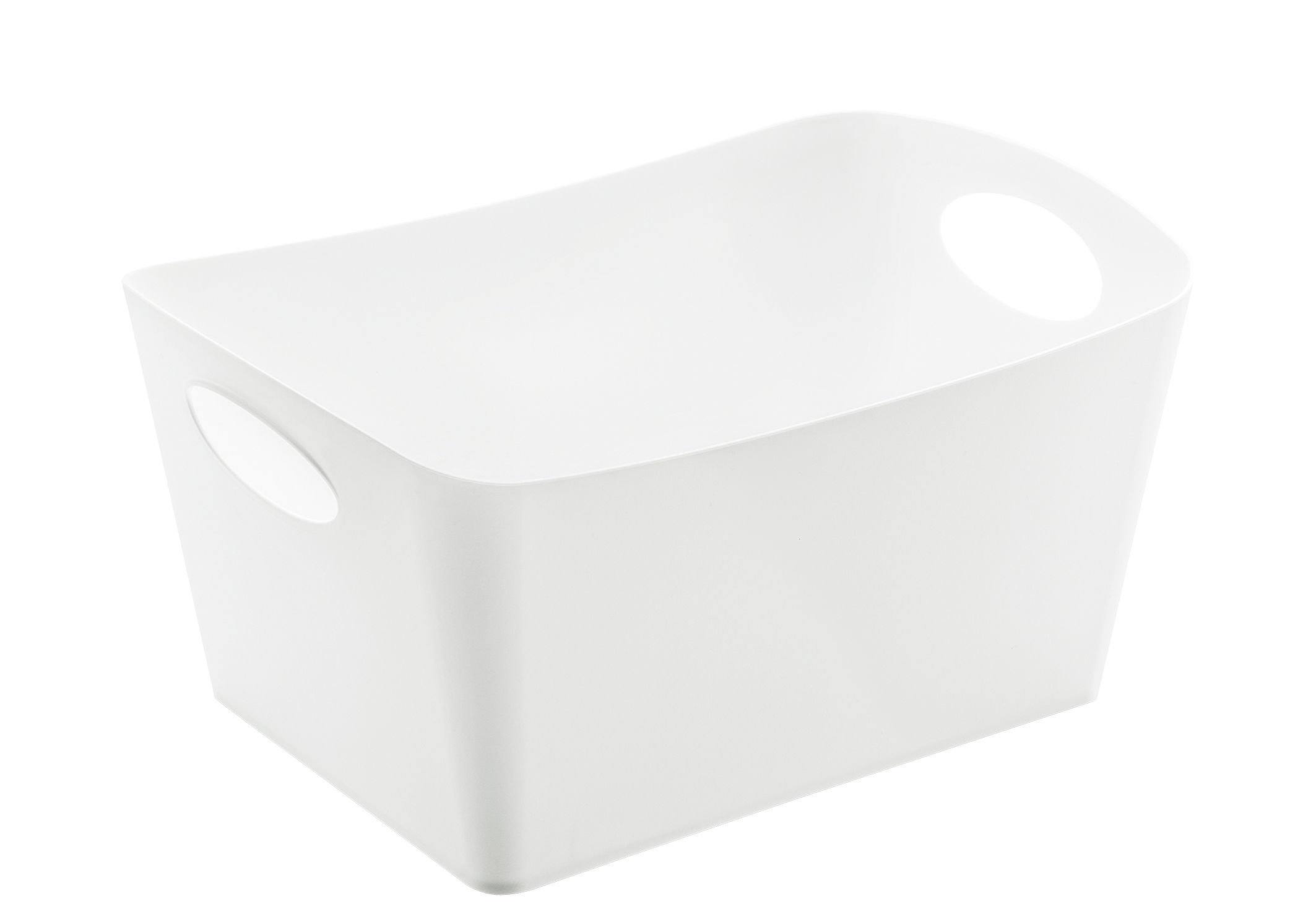 Déco - Paniers et petits rangements - Panier Boxxx M / 3,5 L - Koziol - Blanc opaque - Matière plastique