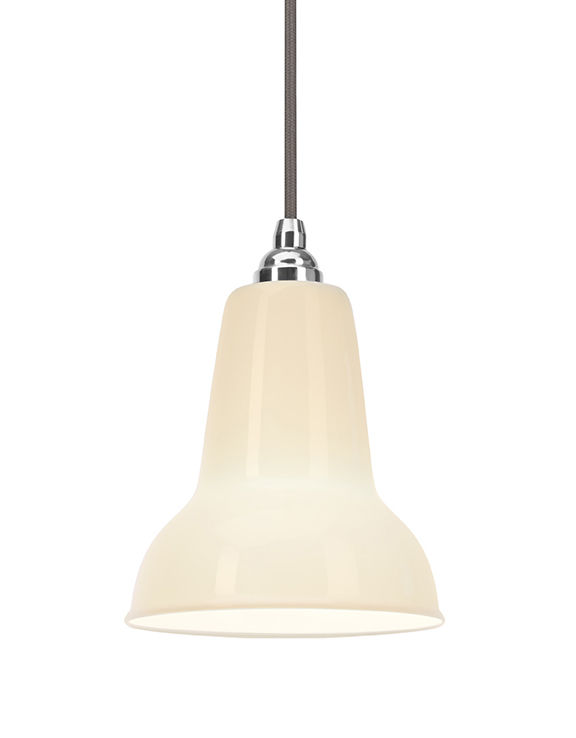Lighting - Pendant Lighting - Original 1227 Mini Pendant - Ceramic by Anglepoise - White - China, Lacquered steel