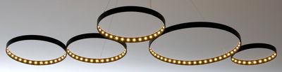 Leuchten - Pendelleuchten - Super8 Pendelleuchte / LED - 100 x 50 cm - Le Deun - Schwarz - Stahl