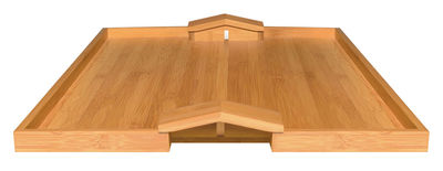 Tavola - Vassoi  - Piano/vassoio Quattro muri e due case - L 46.6 cm x larg 36.6 cm x H 3.8 cm di Alessi - Legno naturale - Bambù