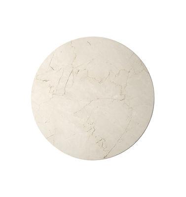 Plateau marbre / Pour table Androgyne - Menu blanc/beige en pierre