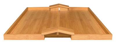 Arts de la table - Plateaux - Plateau Quattro muri e due case - Alessi - Bois naturel - Bambou