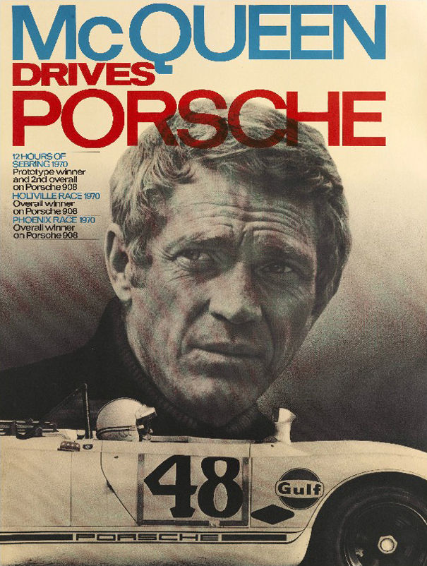 Decoration - Home Accessories - Steve Mc Queen - Porsche Poster - 40 x 50 cm by Image Republic - Steve Mc Queen - Porsche - Paper