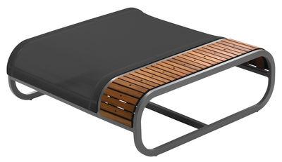 Pouf Tandem version teck - EGO Paris noir,teck en métal