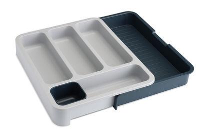 Cuisine - Pratique & malin - Range-couverts DrawerStore / extensible - Joseph Joseph - Blanc/gris - Polypropylène