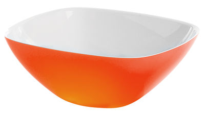 Tableware - Bowls - Vintage Salad bowl by Guzzini - White - Orange - SAN plastic