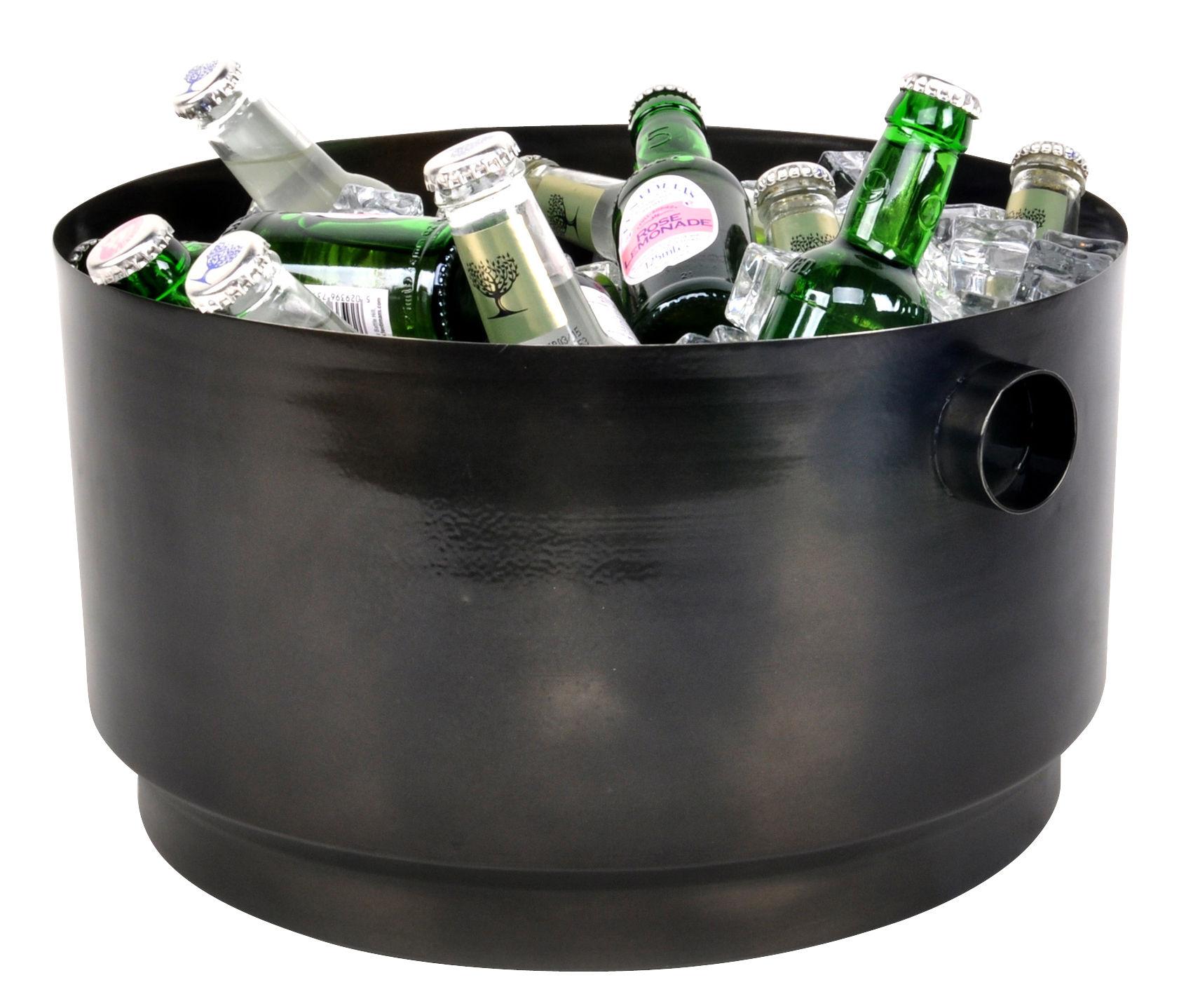 Arts de la table - Bar, vin, apéritif - Seau à champagne Rondo / XL - 10 bouteilles - XL Boom - Noir - Acier inoxydable