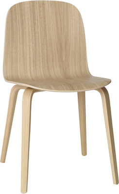 Arredamento - Sedie  - Sedia Visu - versione legno - 4 gambe di Muuto - Rovere massello - Compensato di rovere