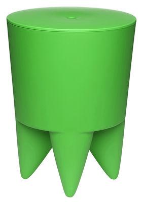 Arredamento - Sgabelli - Sgabello New Bubu 1er opaco /  Contenitore Plastica – XO - Verde Primavera - Polipropilene