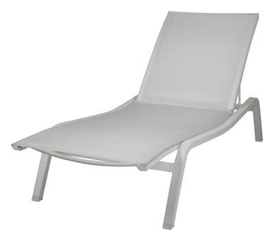 Outdoor - Sonnenliegen, Liegestühle und Hängematten - Alizé XS Liege B 72 cm / 2 Positionen - Fermob - Metallgrau - B 72 cm - lackiertes Aluminium, Polyester-Gewebe