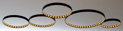 Illuminazione - Lampadari - Sospensione Super8 - 100 x 50 cm di Le Deun - Noir - Acciaio