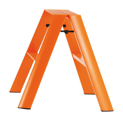 Furniture - Miscellaneous furniture - Lucano Stepladder - 2 steps by L'atelier d'exercices - Orange - Painted aluminium