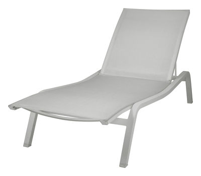 Outdoor - Sun Loungers & Hammocks - Alizé XS Sun lounger - W 72 cm / 3 positions by Fermob - Steel grey - Lacquered aluminium, Polyester cloth