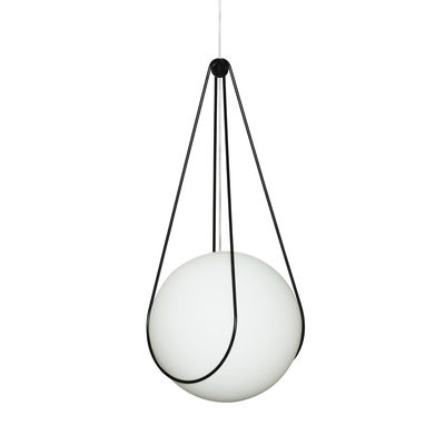 Support Kosmos / Pour suspension Luna Large Ø 40 cm - Design House Stockholm noir en métal
