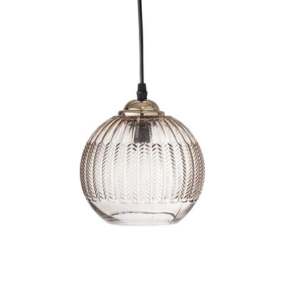Suspension / Verre - Ø 17 cm - Bloomingville or,marron transparent en verre