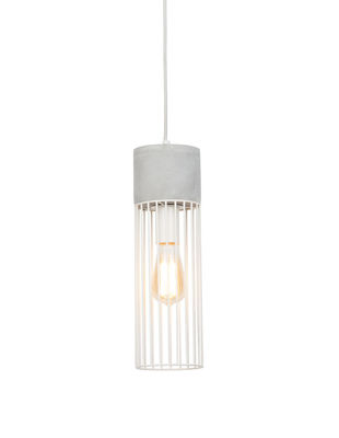 Suspension Memphis / Ciment & fer - It´s about Romi blanc,gris en métal