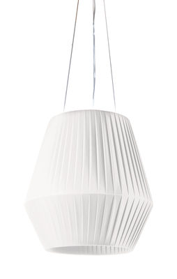 Suspension Ruban Ø 45 cm - Dix Heures Dix blanc en tissu