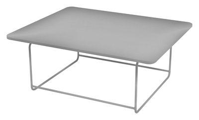 Table basse Ellipse Fermob gris métal en métal