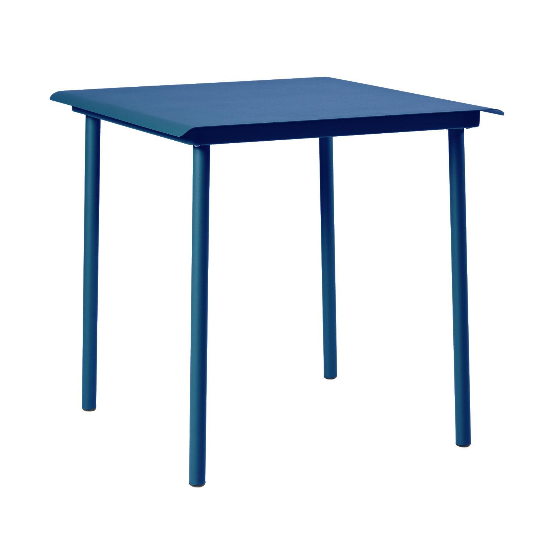 Outdoor - Tables de jardin - Table carrée Patio Café / Inox - 75 x 75 cm - Tolix - Bleu Océan - Acier inoxydable