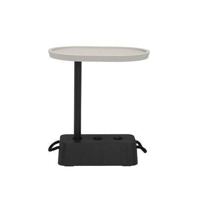Table d'appoint Brick / 56 x 39 x H 63,5 cm - Plateau rotatif - Fatboy beige en matière plastique