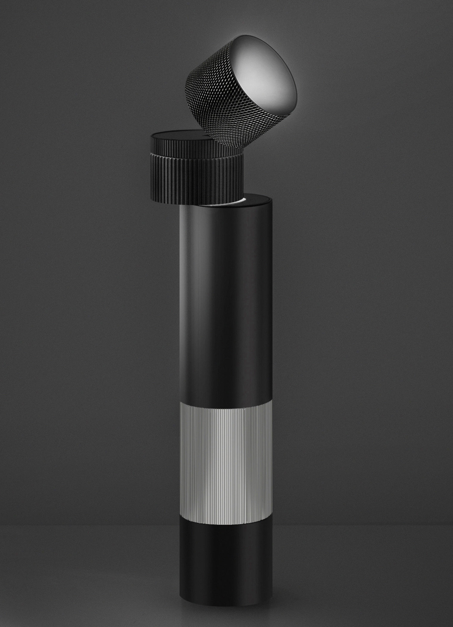 Lighting - Table Lamps - Objective Table lamp - LED / H 37 cm by Artemide - Black - Methacrylate, Painted aluminium