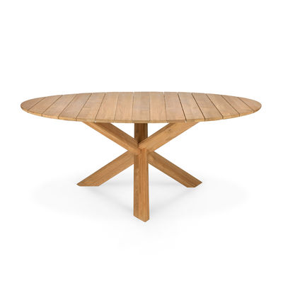 Jardin - Tables de jardin - Table ronde Circle Outdoor / Teck - Ø 163 cm / 6 personnes - Ethnicraft - Teck - Teck massif