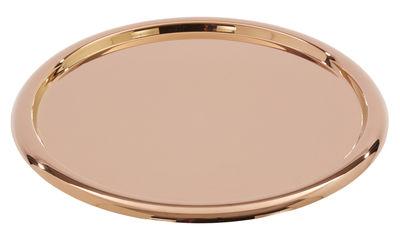 Tischkultur - Tabletts - Brew Tablett / Ø 42 cm - Tom Dixon - Kupfer - rostfreier Stahl