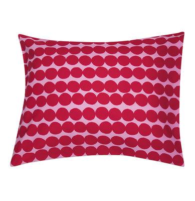 Taie d´oreiller Räsymatto / 65 x 65 cm - Marimekko rose,rouge en tissu