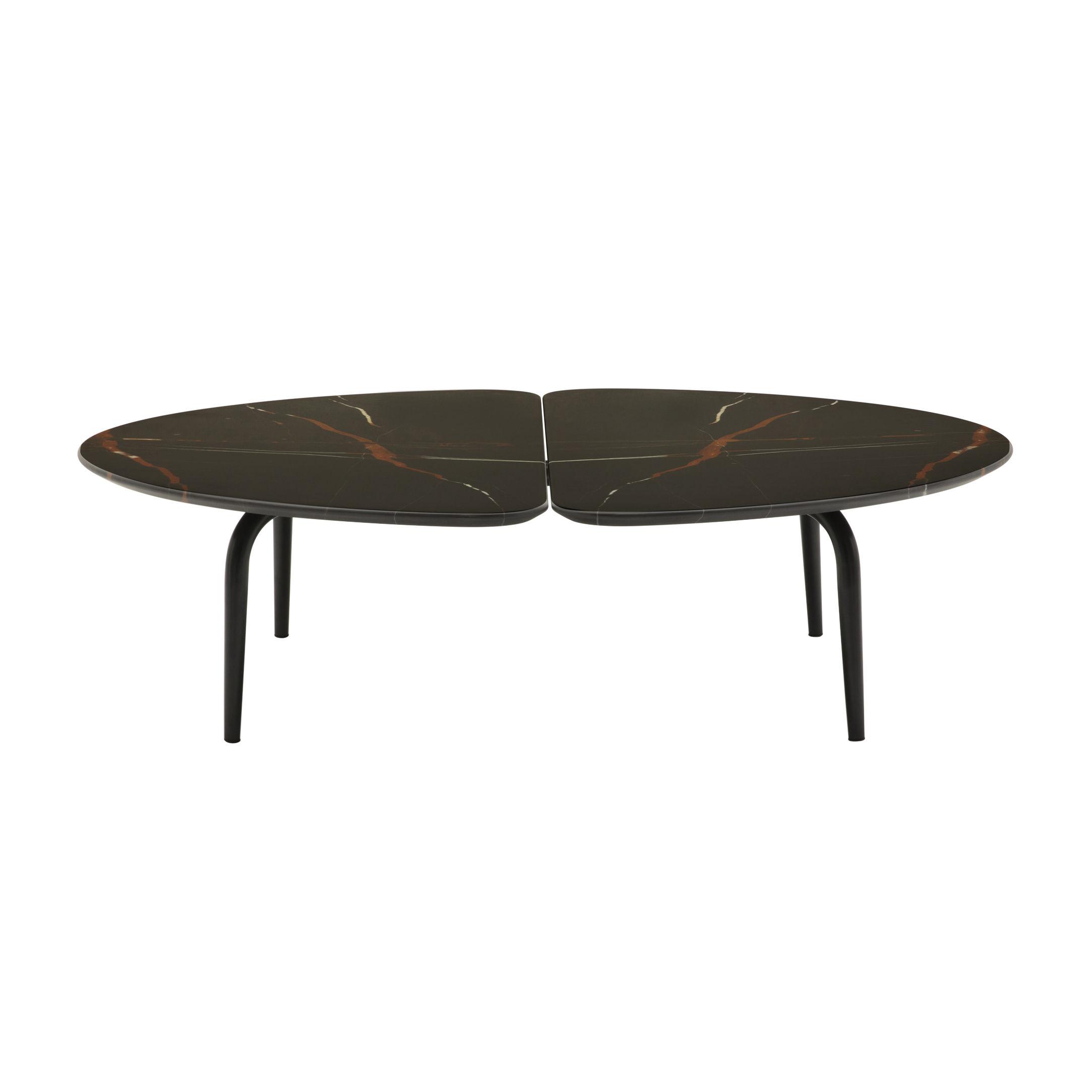 Arredamento - Tavolini  - Tavolino Graphium - / Marmo - 120 x 118 cm di Zanotta - Marmo nero - Acciaio verniciato, Marmo Sahara