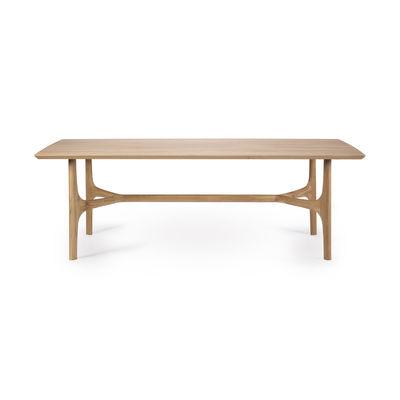 Natale Design - Tavolo & Decorazione - Tavolo rettangolare Nexus - / Rovere massello - 210 x 100 cm / 6 persone di Ethnicraft - 210 x 100 cm / Rovere - Rovere massello