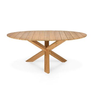Outdoor - Tavoli  - Tavolo rotondo Circle Outdoor - / Teck - Ø 163 cm / 6 persone di Ethnicraft - Teck - Teak massello