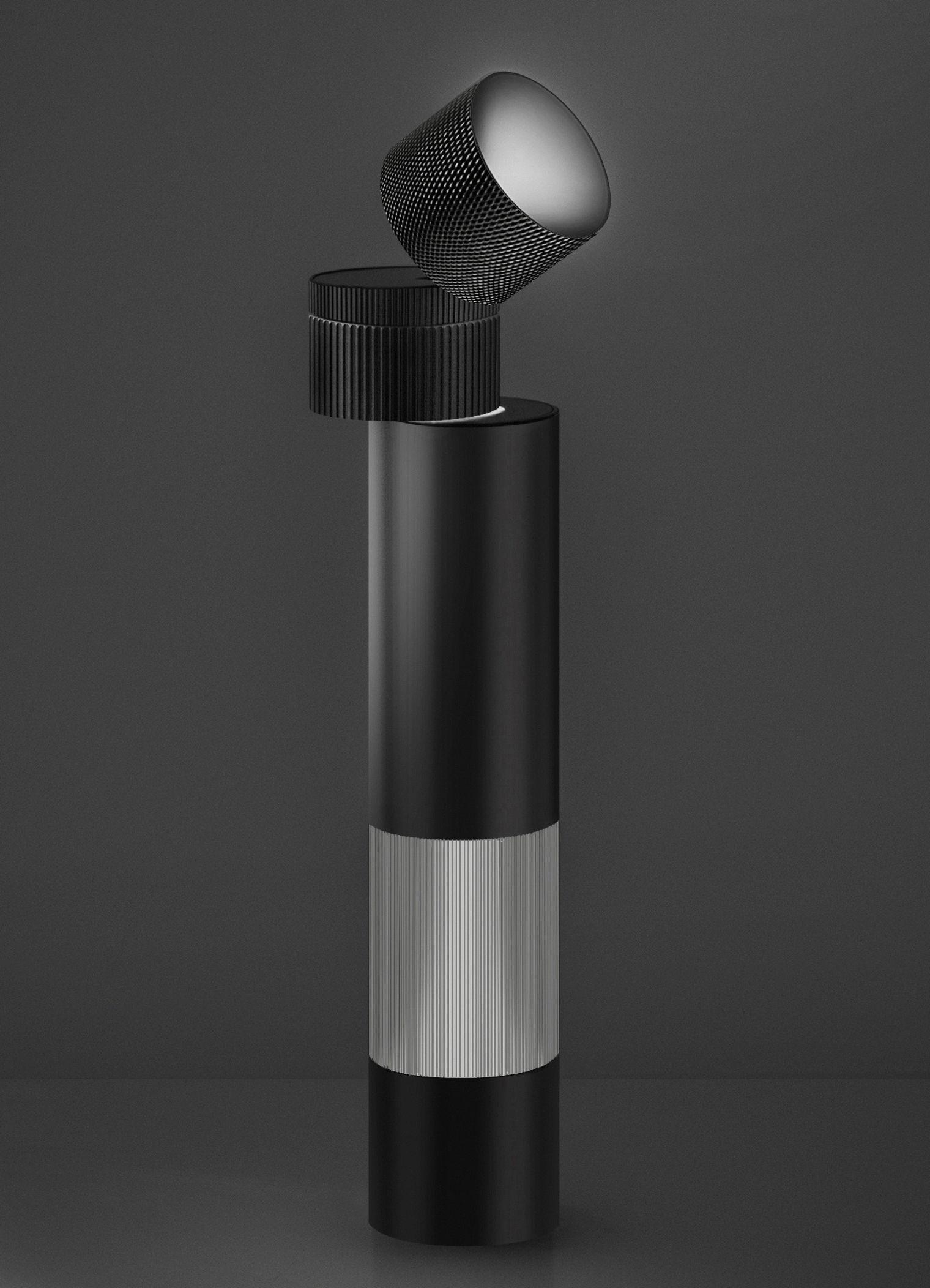 Leuchten - Tischleuchten - Objective Tischleuchte LED / H 37 cm - Artemide - Schwarz - bemaltes Aluminium, Methacrylate