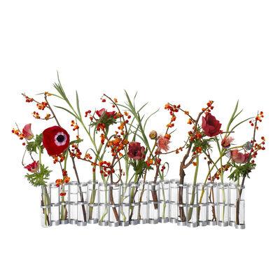 Déco - Vases - Vase d'Avril Petit / L 55 cm x H 10 cm - Tsé-Tsé - Small - L 55 x H 10 cm - Acier zingué, Verre soufflé