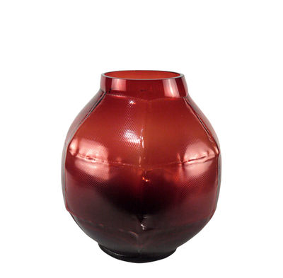Decoration - Vases - Trace rond Vase - / L 28 x H 35 cm by Vanessa Mitrani - Red - Blown glass