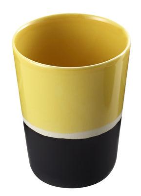Verre Sicilia - Maison Sarah Lavoine blanc/jaune/noir en céramique