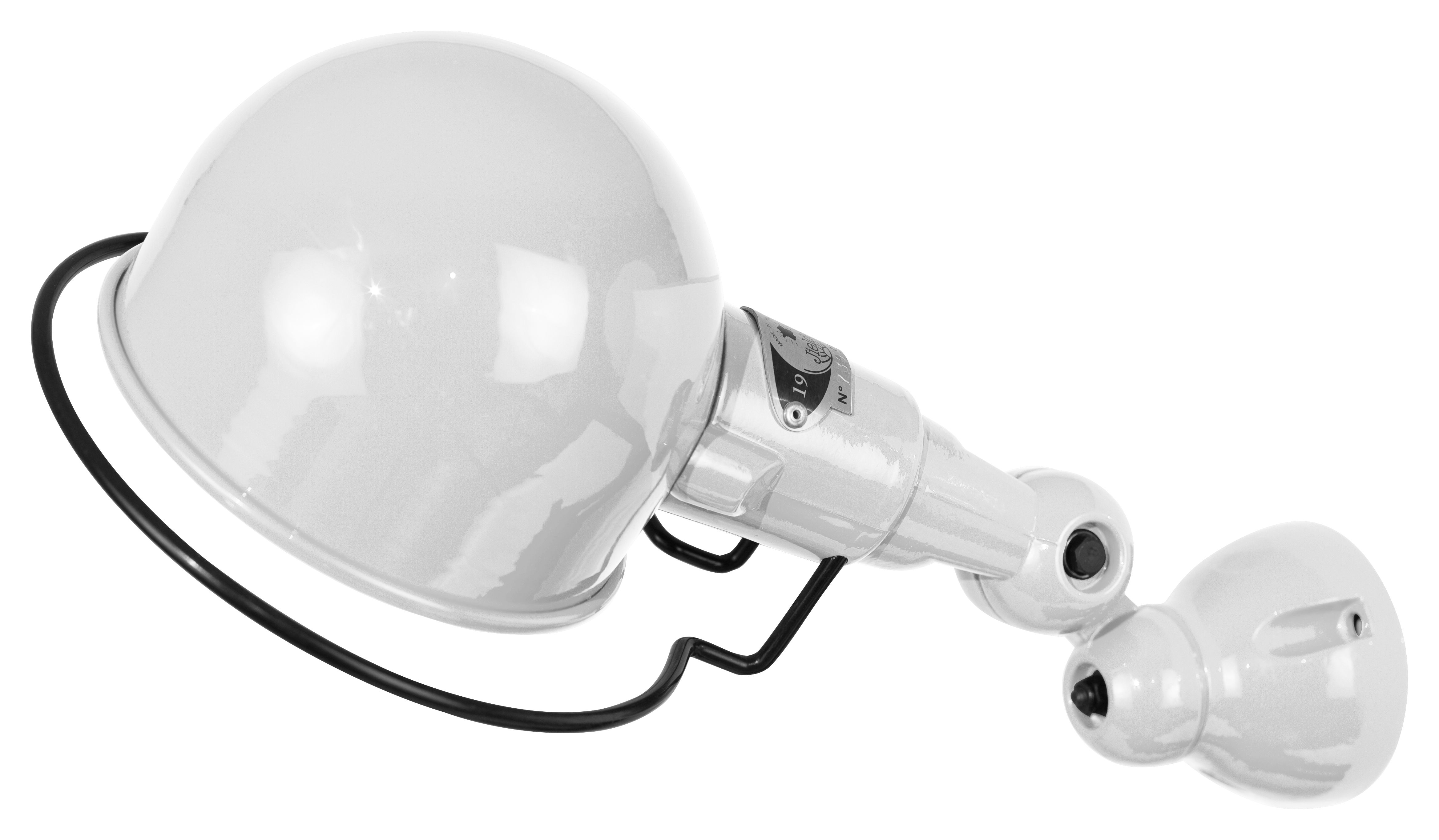 Lighting - Wall Lights - Signal Wall light - Ø 10 cm by Jieldé - Shiny white - Stainless steel