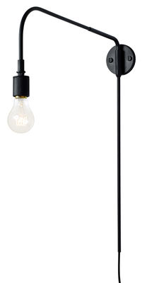 Lighting - Wall Lights - Warren Wall light with plug - / L 52 cm by Menu - Black - Painted steel