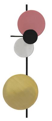 Luminaire - Appliques - Applique avec prise Planet Lamp / Modulable - H 98 cm - Branchement secteur - PLEASE WAIT to be SEATED - Rouge indien - Acier laqué, Aluminium, Laiton