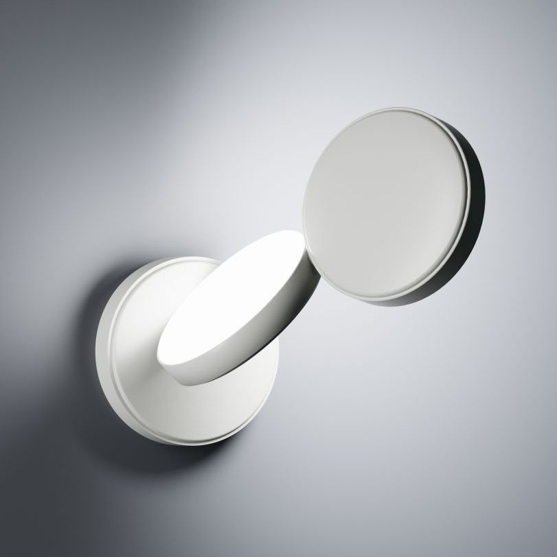 Illuminazione - Lampade da parete - Applique Optunia - / LED - Orientabile di Fontana Arte - Bianco - alluminio verniciato, Vetro