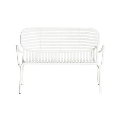 Mobilier - Bancs - Banquette Week-End / Aluminium - L 114 cm - Petite Friture - Blanc - Aluminium thermolaqué époxy